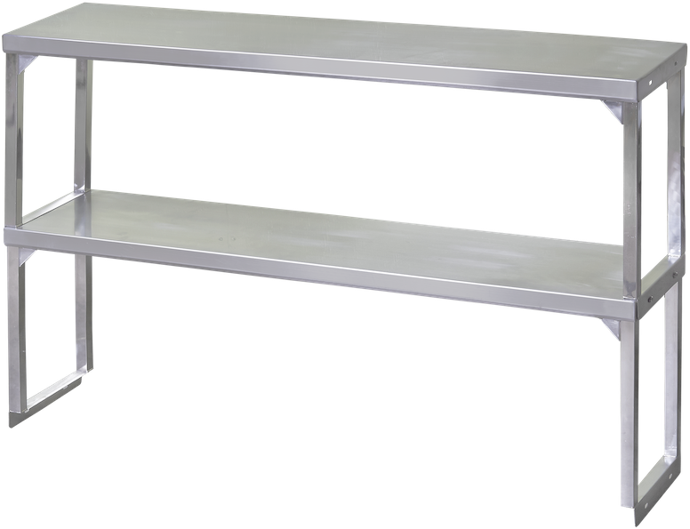 Blue Air Stainless Steel Double Overshelf
